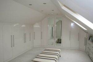 Image of a bedroom designed and built by Excel Home Improvements South Wales