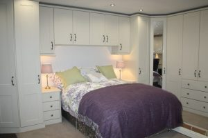 Image of a bedroom designed and built by Excel Home Improvements Cardiff