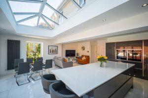 kitchen interior with sunroof